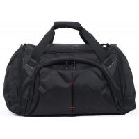 Quality Customized Portable Black  Duffel Bags Luggage Fashionable 600D Polyester Material for sale