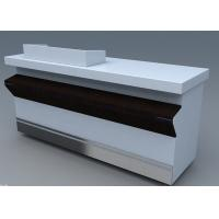 China Commercial Steel Edge Retail Shop Counters , Practical Store Checkout Counter on sale