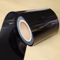 Quality Electrical Insulation Black PET Film For Medical Devices / Producing Adhesive Tape for sale