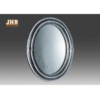 Quality Oval Industrial Style Fiberglass Furniture Silver Mosaic Glass Framed Wall Mirror for sale