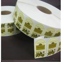 Quality Denise Olive Oil Printed Adhesive Sticker Labels Paper in Roll for sale