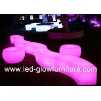 Quality Glow wedding and event Cube illuminated bar counter stool Built - in Lithium Battery for sale