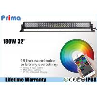 Quality 32 Inch 180W CREE Remote Control LED Light Bar Dance With Music IP68 Waterproof for sale