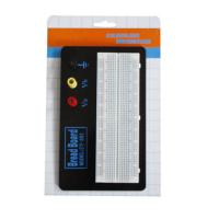 Quality Black Aluminum Backing Plate Solderless Breadboard Kit 830 Tie Points for sale