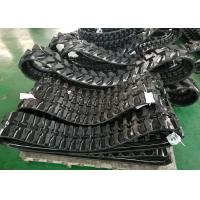 Quality Grey / Black Excavator Rubber Tracks 200mm Wide For Yanmar Wb500 Ym10 Ymd60 for sale