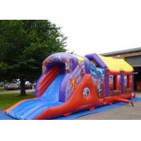 Quality 2 Part Assault Course Hero Inflatable Bouncy Obstacle Course Games Summer for sale