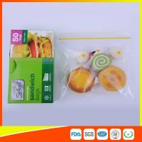 Quality Waterproof Plastic Sandwich Bags Reclosable 18 X 17cm For Food Storage for sale