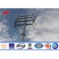 China 69kv Distribution Line Steel Power Pole With Cross Arm Accessories on sale