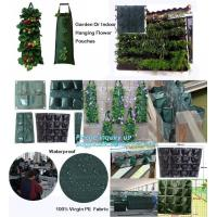 Quality folding retain moisture, indoor outdoor high quality hanging flower bags,4 Pockets Permeable Non-woven fabric 26x65cmx1m for sale