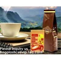 Quality Custom Printed Doypack Resealable Ziplock Standing Up Pouches Aluminum Foil Coffee Packaging Bags With Zipper for sale