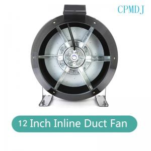 China 12 Inch Hydroponics Fan Stainless Steel Mixed Flow Inline Duct Exhaust Fan / Greenhouse Ceiling Blower Fans And Shutters on sale