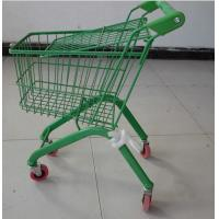 Quality Colorful European Child Size Metal Shopping Cart Wire Basket Trolley 460×330×630 mm for sale