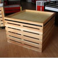 Quality Supermarket Fruit And Vegetable Wooden Retail Display Shelves / Wooden Display Units for sale