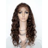 Quality Top Quality 100% Human Hair Brown Body Wave Full Lace Wig for sale