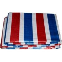 PE Coated Stripe PE Tarpaulin Sheet Dust - Proof Woven Technics With Holes