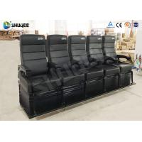 Quality Electric Dynamic System 4D Cinema Equipment Red / Black Cinema Chair For Theater for sale