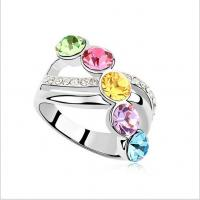 Quality Austria Crystal rings for women 6 colors  TJ0019 for sale
