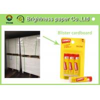 Quality High Whiteness Blister Board Paper 350 Gsm Two Side White Ivory Cardboard for sale