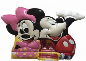 China Classic disney cartoon mickey inflatable jump house fun PVC inflatable mickey castle bouncy commercial inflatable bounce on sale