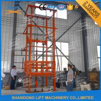 Quality 1T 12m CE Approved Vertical Guide Rail Elevators Hydraulic Warehouse Cargo Lift for sale