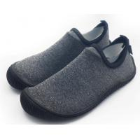 Quality Foldable Unisex Pvc Sole Shoes Soft Scuba Knitting Fabric Direct Injection for sale