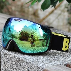 Popular UV400 Men'S Mirrored Ski Goggles Soft Strap For Snowy Conditions