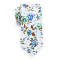 China Men's wedding tie cotton print Fashion flower narrow edition best man leisure tie. on sale