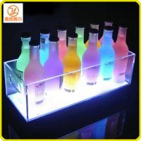 China New design customized LED acrylic ice bucket for the wine in the pub on sale