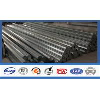 Quality 40 FT Octagonal Hot Dip Galvanized Tubular Steel Poles For Transimission Power Line for sale