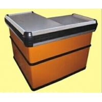 Quality Steel Orange Express Checkout Counter / Polished Surface Store Cashier Desk for sale