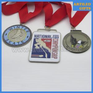 Quality Hard enamel antique imitation Choctaw Oklahoma Novice State Wrestling medal for sale