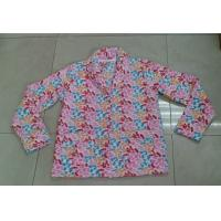 Quality Flower Color Brushed Fleece Ladies Rob / Pajama Sets With Front Pocket for sale