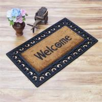 Quality Oriental Coir Welcome Doormat Printed Pattern Anti - Slip Feature for sale