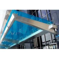 Quality Customized Color Commercial Steel Awnings , Windproof Glass And Steel Awnings Anti Yellowing for sale