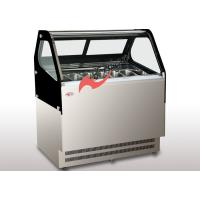 Quality Frozen Food Display Showcase Air Cooling 2 Layers Pans Gelato Display Case for sale
