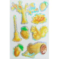 China Peel Off Paper Kids Hologram Stickers Custom Made For Books 80x120 Mm on sale