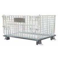 Quality SGS Stainless Steel Mesh Container , Warehouse Wire Mesh Storage Bins for sale