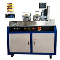 Quality Dual Card Punching Machine PVC Card Cutting Machine / Cutter For Different Size Key Tag Cards for sale