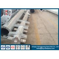 Buy cheap 220KV Q345 Hot Dip Galvanized Steel Power  Pole with Cross Arms from wholesalers
