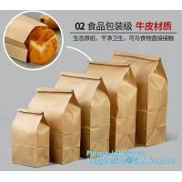 Quality Free sample food grade paper bread bag with window,Food grade recycled bread paper bag with paper twist handle, bagease for sale