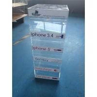 Quality acrylic counter display for charger/ mobile phone charger display stand for sale