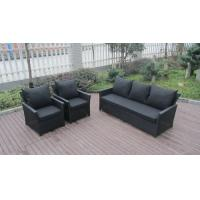 Quality 5 Seat Back Cushion Outdoor Rattan Sofa Set For Hotel Poolside for sale