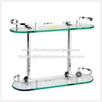 Quality Glass Furniture Clear Tempered/Toughened Glass Bathroom Shelf for sale