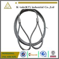 Quality 7*19 6.0mm Pressed Galvanized Steel Wire Rope Sling for sale