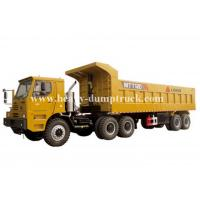 Quality Rated load 100 tons Off road Mining Dump Truck Tipper  309kW engine power drive multi axles with 50m3 body cargo Volume for sale