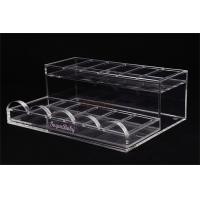 China Acrylic Retail Display StandsNail Polish ShelfClear 285×215×100 Mm For Makeup Shop on sale