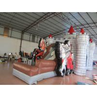 Buy cheap Inflatable knight themed bouncy house inflatable castle bouncer PVC material from wholesalers