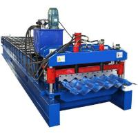 Buy cheap Prepainted Steel Roofing Glazed Tile Roll Forming Machine With Hydraulic Cutting from wholesalers