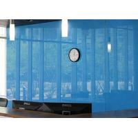 Quality Architectural Decorative Light Blue Back Painted Glass For Frameless Door for sale