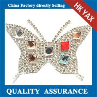 Quality Butterfly Stones Patches Hot Fix,Cheap Hotfix Patches Stones,Shiny Stone Patches Hot-Fix for sale